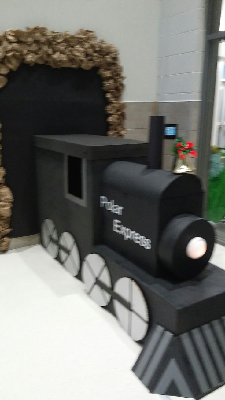 23 best polar express decorations images on pinterest christmas polar express train made with cardboard boxes biocorpaavc Image collections
