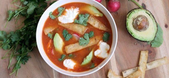 Recept: Mexicaanse tortilla-soep