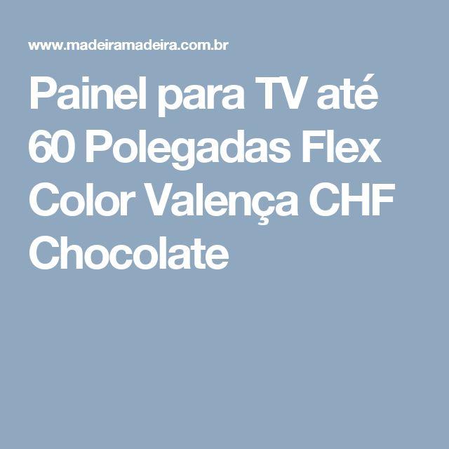 Painel para TV até 60 Polegadas Flex Color Valença CHF Chocolate