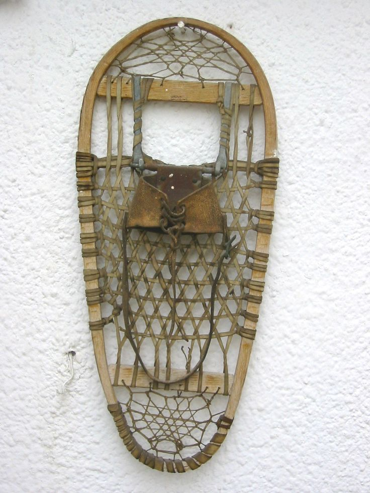 how to make traditional wooden snowshoes