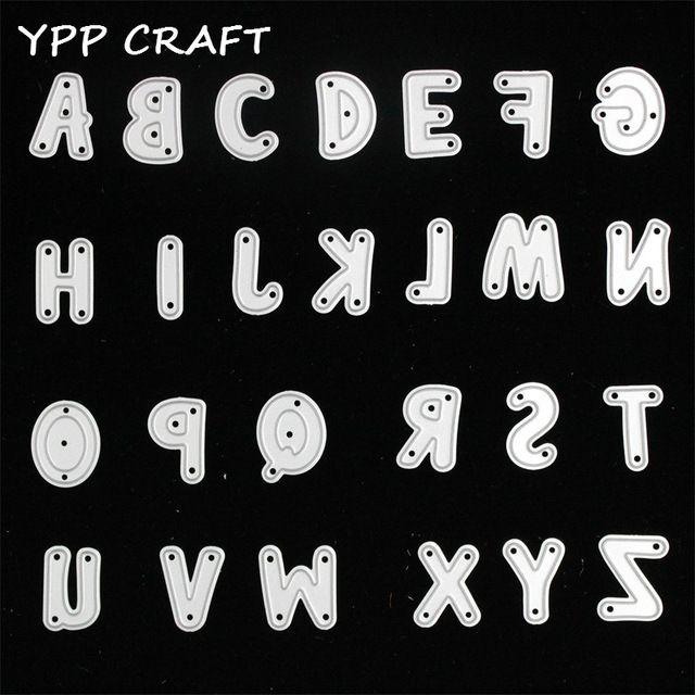 YPP MESTIERE Alfabeto Lettera Set Metallo Taglio Muore Stencil per DIY Scrapbooking/photo album Decorative Goffratura Carte di Carta FAI DA TE