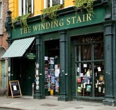 The Winding Stair Bookshop- One of the oldest independent book stores in Ireland with a great selection of books and a tasty restaurant inside. There's two coffee tables by the window where you can sip tea, coffee, or a glass of wine. Caution; People watching is a potent distraction here, especially when slogging though a Russian classic...