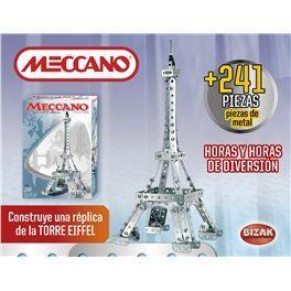 Meccano Torre Eiffel. Construye una réplica de la fantástica Torre Eiffel. Incluye más de 241 piezas, herramientas y instrucciones. Más info y compra en: http://www.elosito.com/lego-construccion-otras-construcciones/12002-meccano-torre-eiffel-8432752016114.html