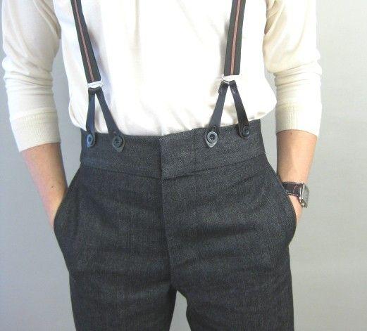 Denim High Waist Trousers (TR204)