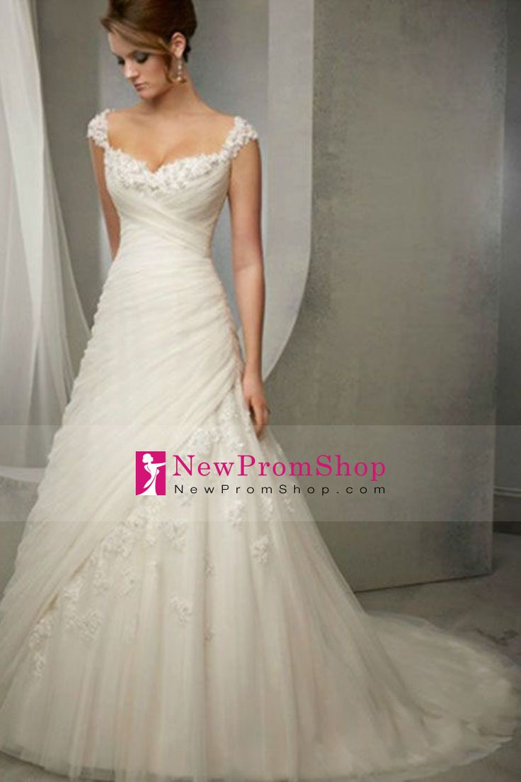 2014 Noble Straps Wedding Dress A Line With Beads