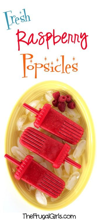 Fresh Raspberry Popsicles Recipe! ~ from TheFrugalGirls.com ~ the perfect refreshing homemade fruit popsicle on a hot day! #healthy #recipes #thefrugalgirls