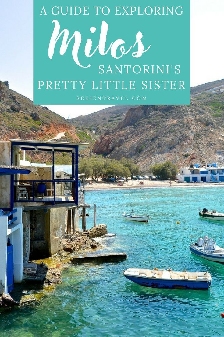 A complete guide to exploring Milos, Santorini's pretty little Greek Island sister. Best things to do, top hotels (hint: stay in Pollonia) and other practical travel tips for your trip. Often known as the island with the best beaches, this itinerary includes all of the best beaches from Sarakiniko to Firiplaka and beyond. Bucket list travel in Greece. | Up and Away Travel #Milos #Greece