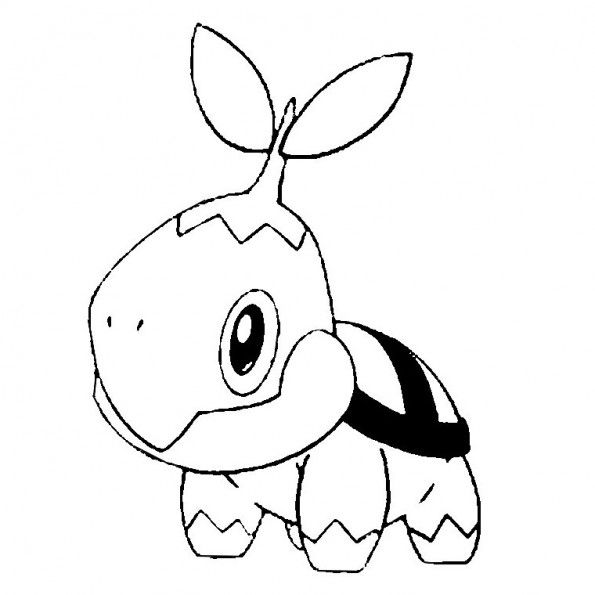 Tortipouss, un pokémon herbe