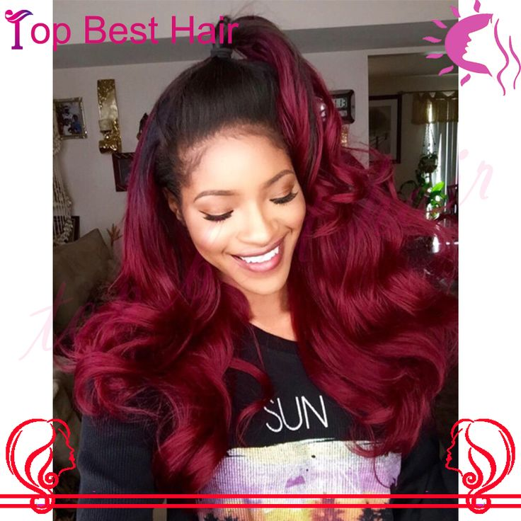 Unprocessed 1B/ 99J Burgundy Red Wig Human Natural Hair Brazilian Wavy Wig Glueless Lace Wigs Red Full Lace Wigs For Black Women