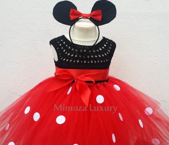 Vestido de Mickey mouse mickey mouse cumpleaños niña de las flores vestido…