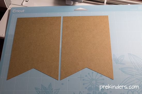 Making a pennant banner with Cricut Explore
