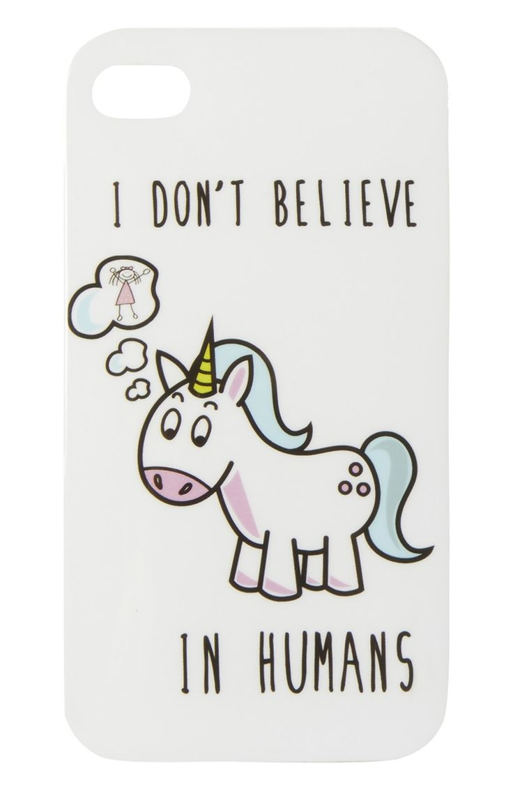 Primark - White Silicone Unicorn IPhone 4 Case