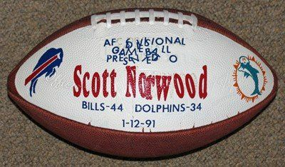01/12/1991 Wilson Football Scott Norwood Bills Game Used Hand Painted Football Presented To Norwood - Versus Dolphins - Afc Divisional Champs - Autographed Wilson http://www.amazon.com/dp/B00GGXAMO4/ref=cm_sw_r_pi_dp_IQLfvb0CWHTSV