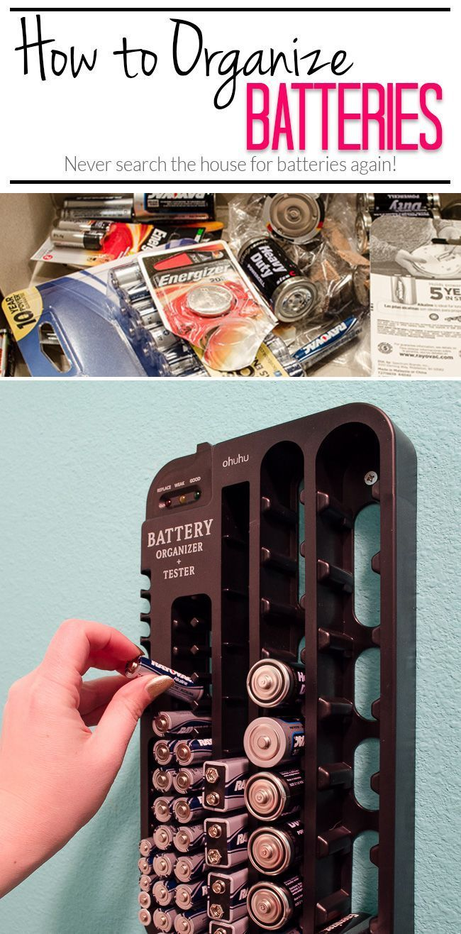 SPRING CLEANING : After years of keeping batteries in a shoebox, and never being able to keep track of what type we had on hand, I FINALLY found a much better solution!