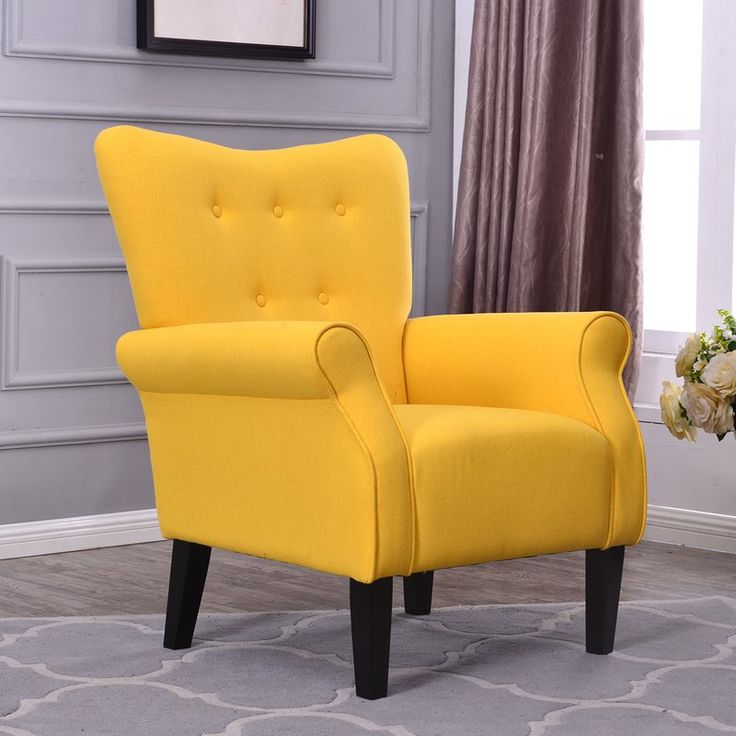 Yellow Accent Chairs, Living