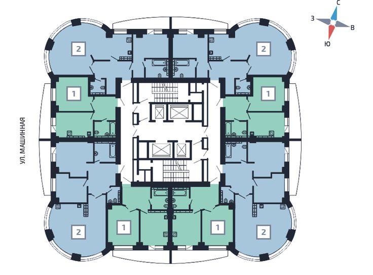 """АтомСтройКомплекс - ЖК """"Олимпийскмй""""  премиум-класс 3-19 этаж"""