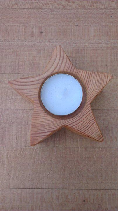 These lovely little star tea light holders, made from off-cuts of larch, would make great stocking fillers - from Glasgow Wood Recycling