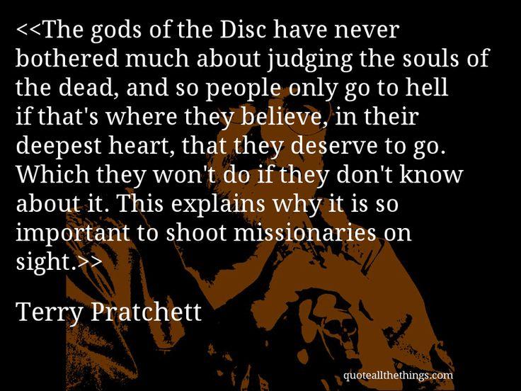 Terry Pratchett - quote -- #quote #quotation #aphorism