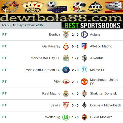 Dewibola88.com | Hasil Pertandingan UEFA Champions League Gmail        :  ag.dewibet@gmail.com YM           :  ag.dewibet@yahoo.com Line         :  dewibola88 BB           :  2B261360 Path         :  dewibola88 Wechat       :  dewi_bet Instagram    :  dewibola88 Pinterest    :  dewibola88 Twitter      :  dewibola88 WhatsApp     :  dewibola88 Google+      :  DEWIBET BBM Channel  :  C002DE376 Flickr       :  felicia.lim Tumblr       :  felicia.lim Facebook     :  dewibola88
