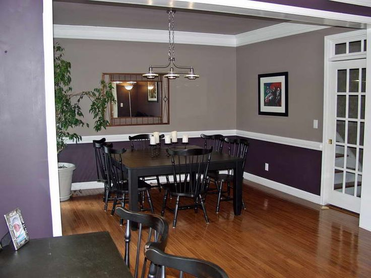 Purple Grey Paints For Dining Room In Reverse
