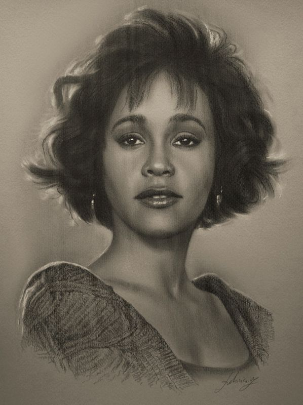 Celebrity Pencil Portraits - Whitney Houston