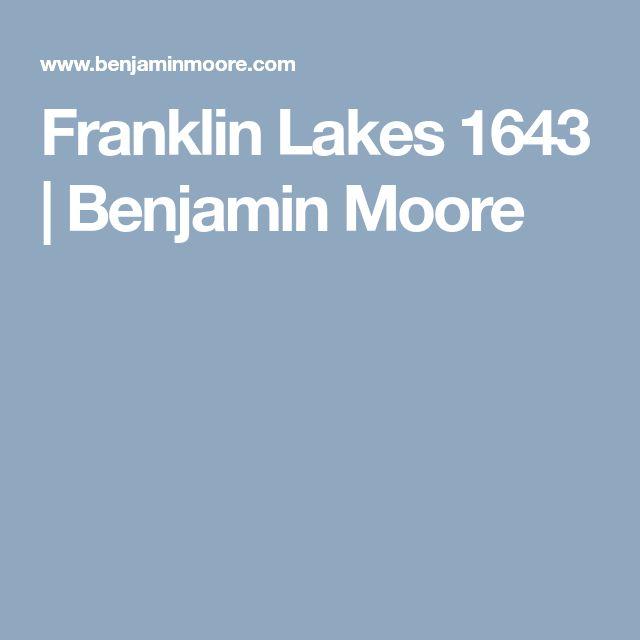 Franklin Lakes 1643  | Benjamin Moore