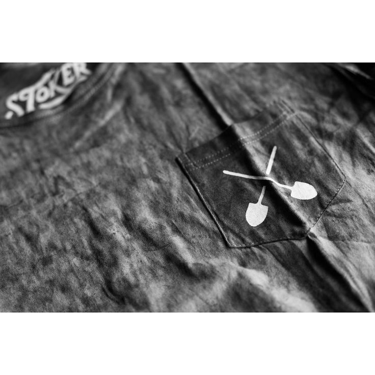 Detail shot of our grey washed shovel tee #ForTheArtOfCraft