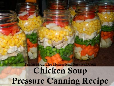 The Homestead Survival | Chicken Soup Pressure Canning Recipe | http://thehomesteadsurvival.com