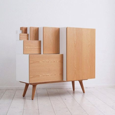 An Furniture by KAMKAM - the sizes of  the modular units are based on the ratio of standard paper sizes!