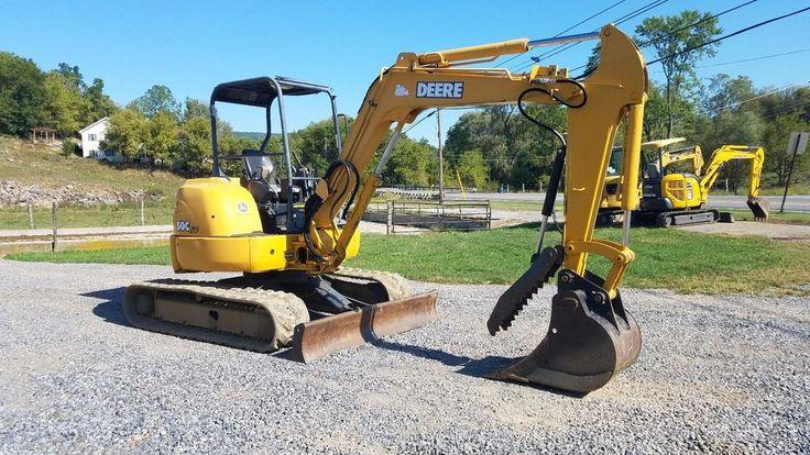 2003 John Deere 50C ZTS Mini Excavator Plumbed w/ Hydraulic Thumb Track Hoe Midi