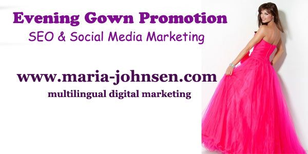 Evening gown promotion