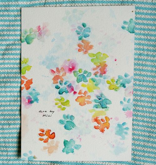 73e618a34ab8 10 Easy Dog Paw Print Craft Projects | She's crafty! | Paw print crafts, Dog  crafts, Paw print art