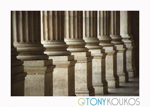 columns, lines, stone, classic, architecture, repetition, doric, Tony Koukos, Koukos, art, photography, Europe