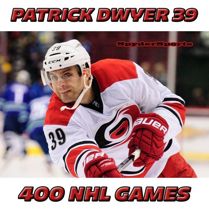 Patrick Dwyer Reaches 400 NHL Games | Spyder Sports Lounge