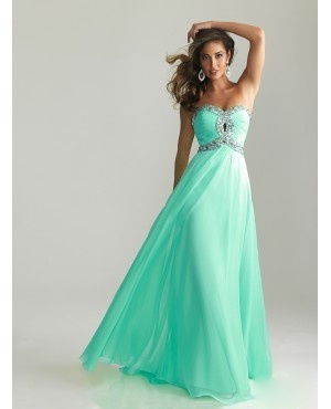 Empire Keyhole Cut Out Evening Gown
