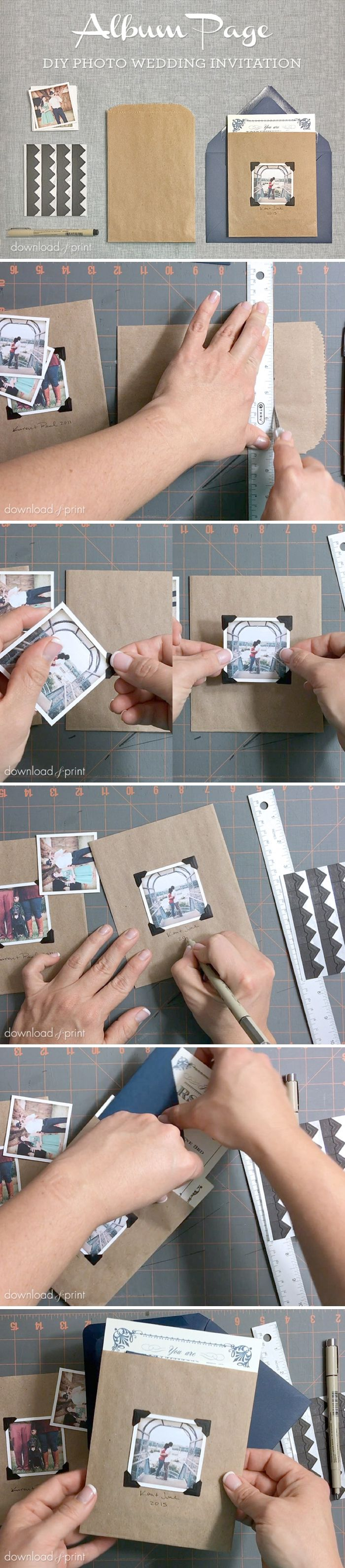 New post on The Budget Savvy Bride: DIY Wedding Invitation Embellishment  Vintage Photo Album Pocket