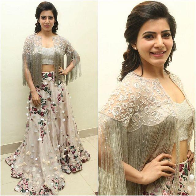 #SamanthaPrabhu Outfit - @shriyasom  Styled by - @neeraja.kona  #bollywood #style #fashion #beauty #bollywoodstyle #bollywoodfashion #indianfashion #celebstyle