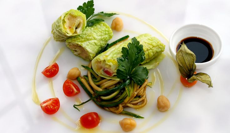 Vegan Menu Restaurant Sostaga Luxushotel 4 Sterne Gardasee Italien