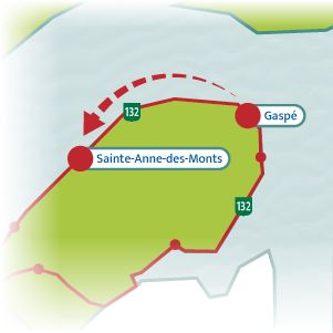 The Bas-Saint-Laurent – Gaspésie Tour is a legendary scenic drive that loops around the huge Gaspé Peninsula. Take a look at the itinerary suggested.
