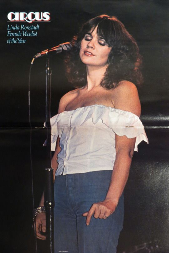 Linda Ronstadt, female vocalist of the year Circus poster.
