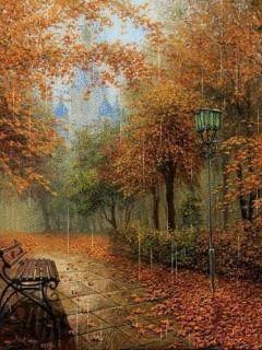 Картинки осень зима 240 320