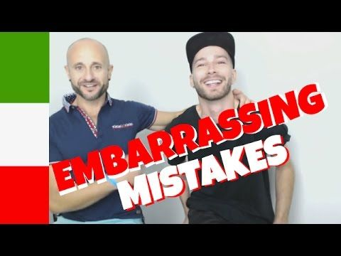 Embarrassing Italian Pronunciation Mistakes - Are you making them too? - YouTube