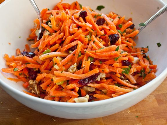 carrot-walnut salad with granberries