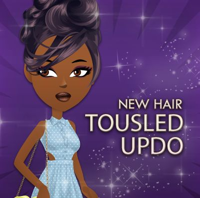 Tousled Updo is this week's new hairstyle! REPIN if you love!!