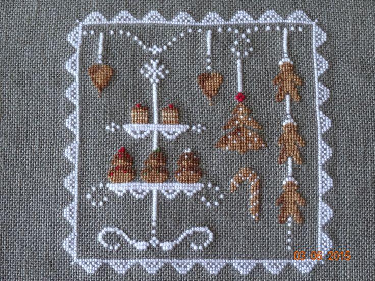 modèle une croix le temps d'un thé... ma réalisation.