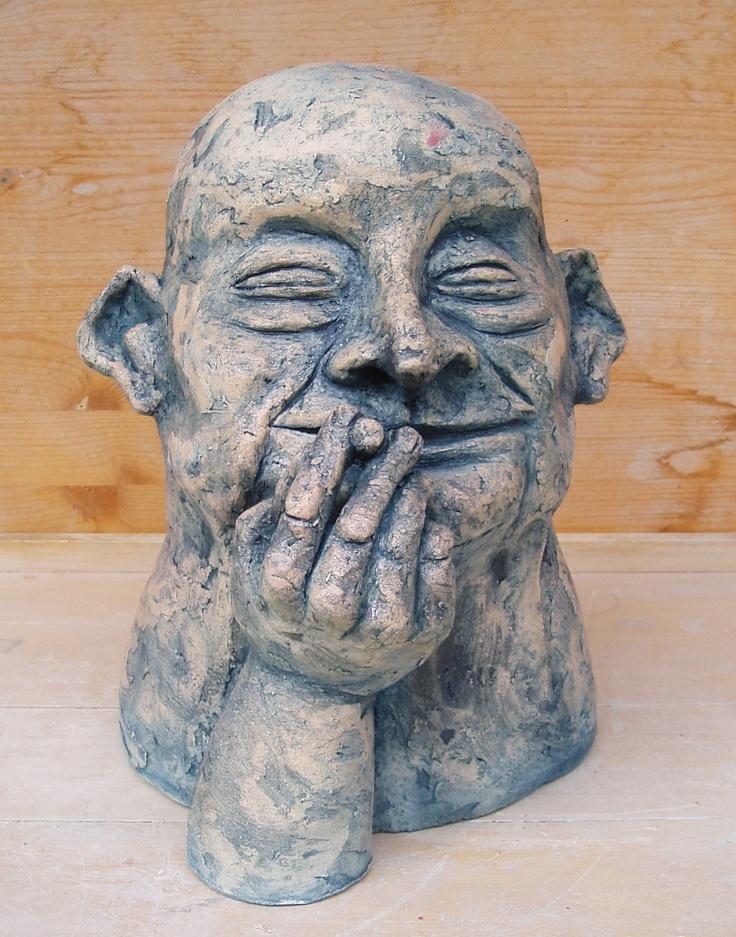 Smoker ceramic sculpture Michaela Stejskalova