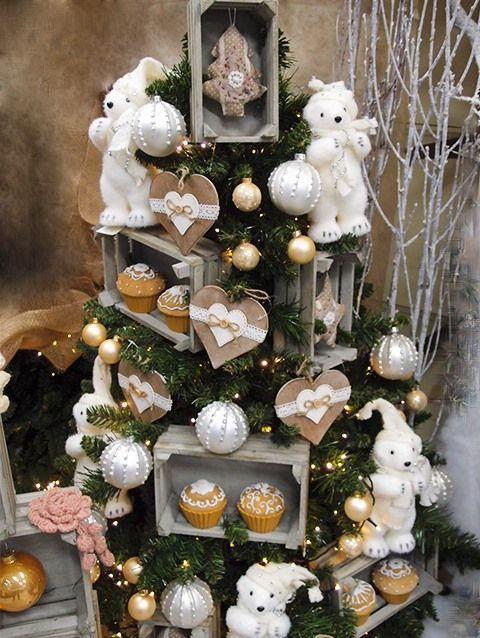 32 fantastiche immagini su idee creative addobbi albero di - Decorazioni natalizie in legno ...