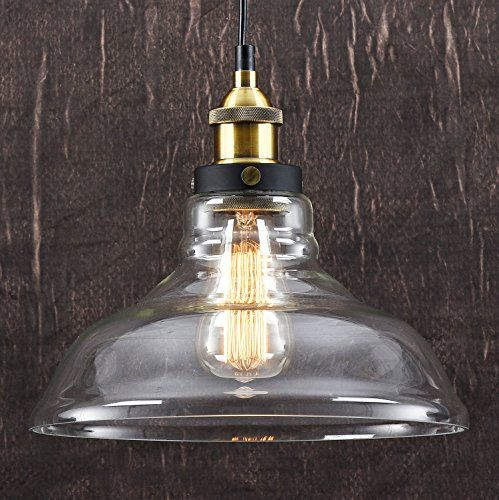 vintage industrial metal bronze glass ceiling lamp shade pendant light