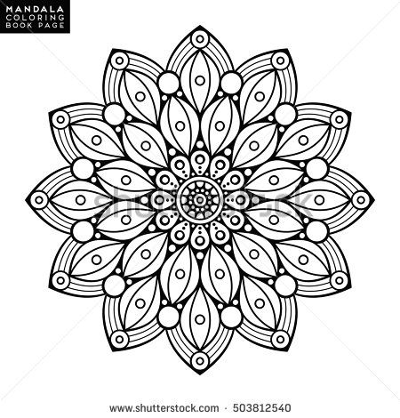Flower Abstract Coloring Pages : 670 best mandalas to color images on pinterest