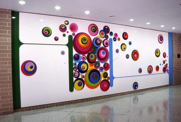 Colorful Wall Murals School Decorating Ideas